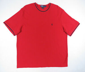 Polo-Ralph-Lauren-Red-Blue-Polo-Pony-Crewneck-Short-Sleeve-Mens-Tee-T-Shirt-XL