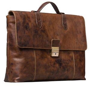 stilord vintage businesstasche elegante business lehrer tasche echt leder braun ebay. Black Bedroom Furniture Sets. Home Design Ideas