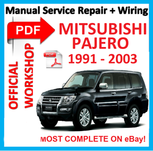 official workshop manual service repair for mitsubishi pajero 1991 rh ebay co uk mitsubishi pajero 1991 workshop manual Mitsubishi Pajero Catalog
