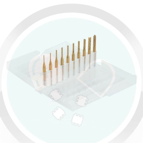 Carbon Fiber 10pcs 3.175mm Titanium Carbide Drill Bits Mill PCB Engraving CNC