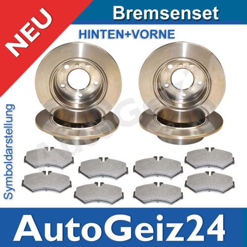 4 Bremsscheiben 5-Loch Zafira Beläge Vorne Hinten Opel Astra G