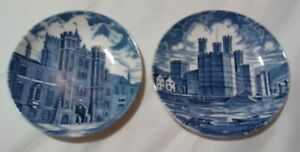 Details about Vintage Wedgewood Tunstall Enoch Trinket Pin Dish x2 Royal  Homes of Britain