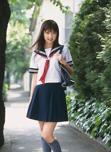 Image Is Loading Japanese Japan School Girl Short Sleeved Uniform Cosplay