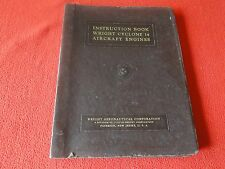 Vintage Flight Manual Instruction Book Wright Cyclone 14 Aircraft Engines 1941
