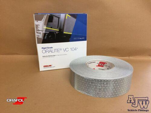 ORALITE ORAFOL 25M X 50MM WHITE Reflective Conspicuity Tape ECE104 Truck Lorry