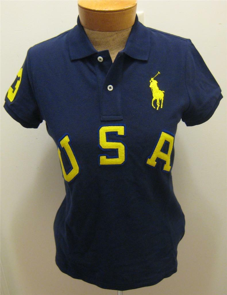 NEW RALPH LAUREN Big Pony USA damen Polo Shirt Top S M L NWT