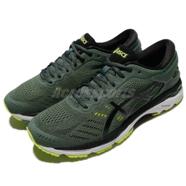 new concept ef014 84d49 Asics Gel-Kayano 24 Dark Forest Green Black Men Running Shoes Trainer  T749N-8290