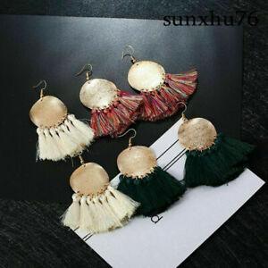Women-Elegant-Vintage-Boho-Long-Tassel-Fringe-Boho-Dangle-Earrings-Jewelry