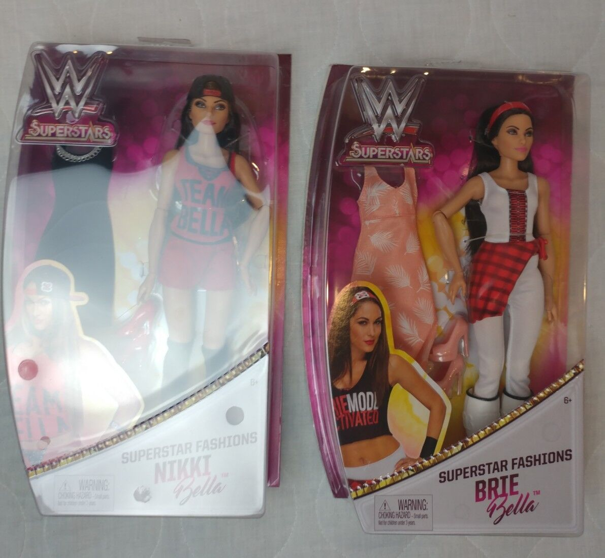 WWE BELLA TWINS Superstar Fashion Doll Mattel BRAND NEW Divas Niki & Brie BELLA