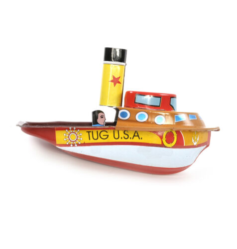 Tug Boat Pop Pop Boat Classic Candle Powered Tin Toy