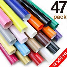 47 Pcs Pu Htv Bundle Sheets Heat Transfer Vinyl For T Shirts Iron On Heat Press