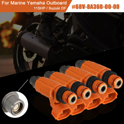 4x For Yamaha Outboard 115HP Suzuki Mitsubishi Fuel Injector Flow Matched CDH210