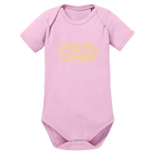 Papa Wars Baby Body Shortsleeve Schwangerschaft Geschenk Kind Geburt