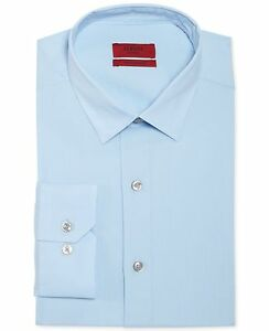 Nwt $95 Alfani Men Slim-Fit Stretch Blue Long-Sleeve Dress Shirt 15-15.5 32//33 M