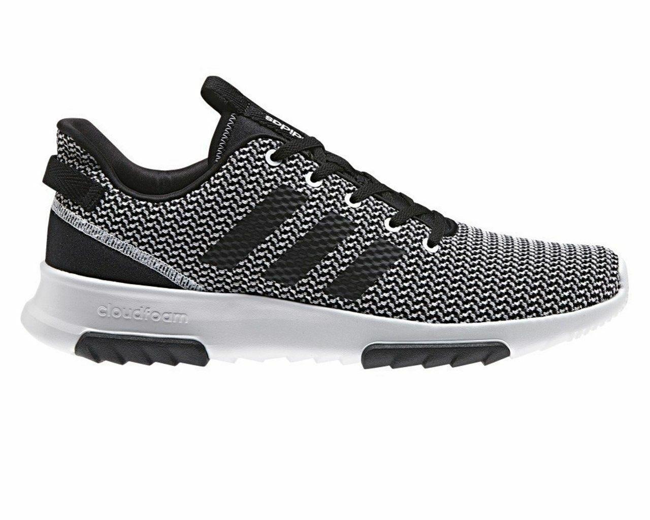 Para Hombre Adidas nube Espuma Racer TR DA9305 Gimnasio Correr Entrenadores Zapatos blancoo Negro