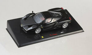 Ferrari-F140-Enzo-Black-Hot-Wheels-Elite-1-43-Model-P9936-MATTEL