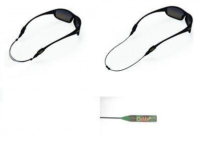 "Cablz Zipz XL Sunglass Retainer 12/"" Black"
