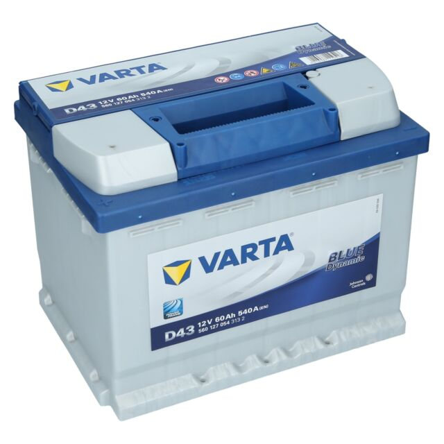 Varta 12V 60 Ah 540A/EN D43 Blue Dynamic Autobatterie Starterbatterie NEU