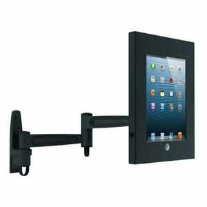X50-CLEARANCE-ORDER-Black-Cantilever-Swing-Arm-Anti-theft-iPad-Wall-Mount-Case