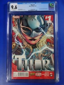 CGC-Comic-graded-9-6-NM-marvel-THOR-1-1st-Jane-foster-becomes-thor