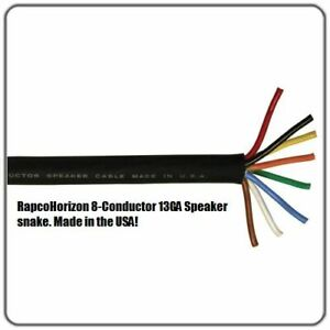 100-feet-13GA-8-conductor-RapcoHorizon-HIGH-POWER-SPEAKER-CABLE-MADE-IN-THE-USA