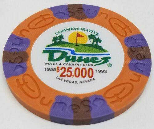 Poker Chips Clay Composite FREE SHIPPING* $25,000 Dunes Commemorative 9 gr 25