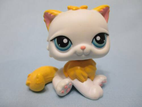 Littlest Pet Shop Cat Kitty Persian Rare White 207 Authentic Lps Exclusive