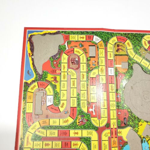 Game of Life 1982 Edition Parts Pieces Board Spinner Hills Cars Money Insurance