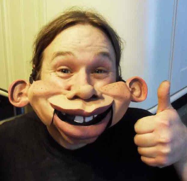 Cheeky Ventriloquist Puppet half mask