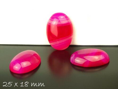 1 Stk pink 25 x 18 mm Achat Edelstein Cabochon zum Einkleben in Fassungen