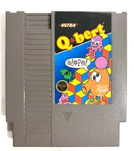 Q-Bert-ORIGINAL-NES-Nintendo-Cart-Only-Tested-Working-amp-Authentic