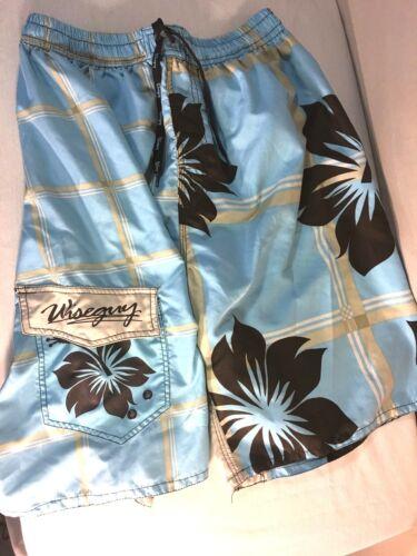 Fodera in Trunks mesh marrone Shorts Wise Boys Guy pulito bianco B5 Swim blu Large qTwFBY