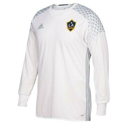 LA Galaxy MLS Adidas Men's White 2016 Authentic Long Sleeve ...