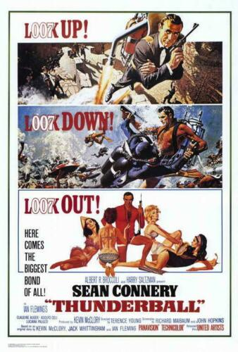 A Thunderball Movie POSTER 27 x 40 Sean Connery Claudine Auger