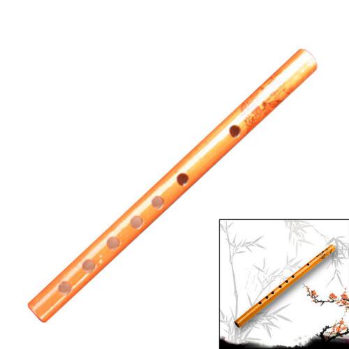 Traditionelle 6-Loch-Bambus-Flöte Klarinette Musikinstrument Holz Farbe CMwg