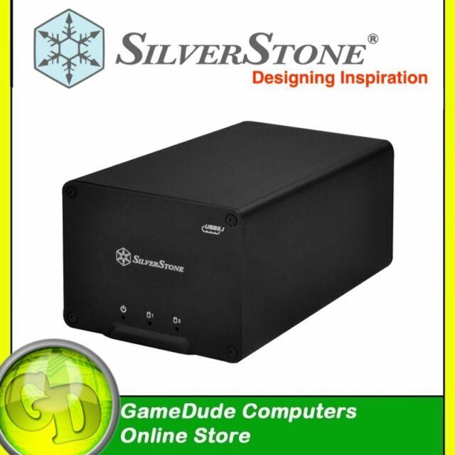 "SilverStone SATA 2.5"" DUAL RAID Enclosure USB 3.1 Type-C - SST-DS223 [F33]"