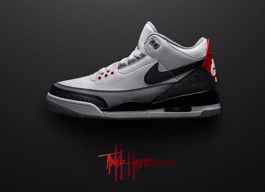 Size 10 Nike Nike Nike Air Jordan 3 Retro Tinker NRG White Black-FIRE RED AQ3835-160 shoes 8b484d
