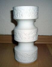 Porzellan Vase Royal KPM Bavaria in weiß aus Biskuitporzellan Blumen HANDARBEIT