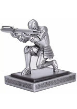 Amoysanli Executive Knight Pen Holder Decorative Resin Holders For Desk Cool And