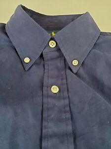 Polo-Ralph-Lauren-Shirt-Blue-Large-L-Button-Down-Collar-RECENT