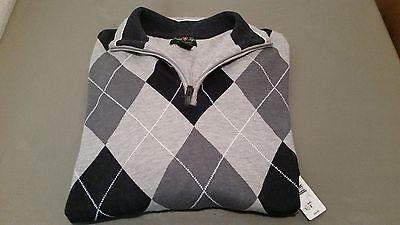 New Mens David Taylor Argyle Sweater ~ Retail $34.99