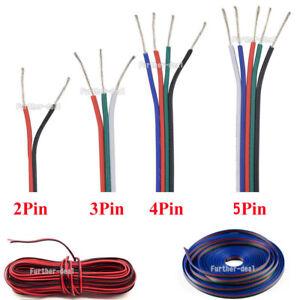 5 10 20m led rgb strip kabel cable anschlusskabel verbindung 2 3 4 5 adrig litze ebay. Black Bedroom Furniture Sets. Home Design Ideas