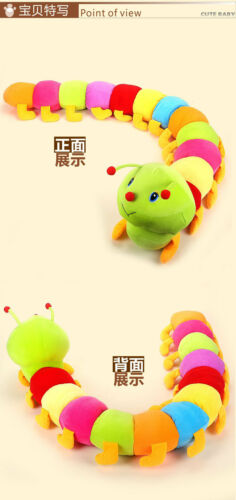 Cute Fashion Colorful Inchworm Soft Lovely Developmental Child Baby Stuffed Toy