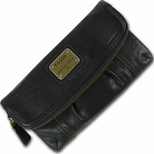 6d193816a6405 Das Bild wird geladen FOSSIL-Leder-Geldboerse-Portemonnaie-Geldbeutel-EMORY -FOLDOVER-CLUTCH-