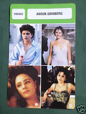 ANOUK GRINBERG - MOVIE STAR - FILM TRADE CARD - FRENCH
