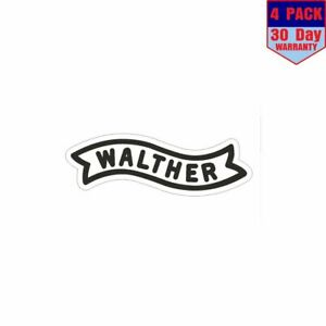 Walther-Guns-AMMO-Firearms-PISTOL-Rifle-4-pack-4x4-Inch-Sticker-Decal