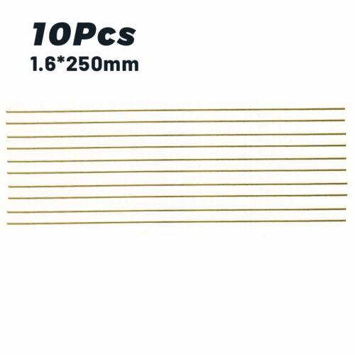 10 Pcs 1.6*250mm Brass Rods Wires Sticks For Repair Welding Brazing Soldering !