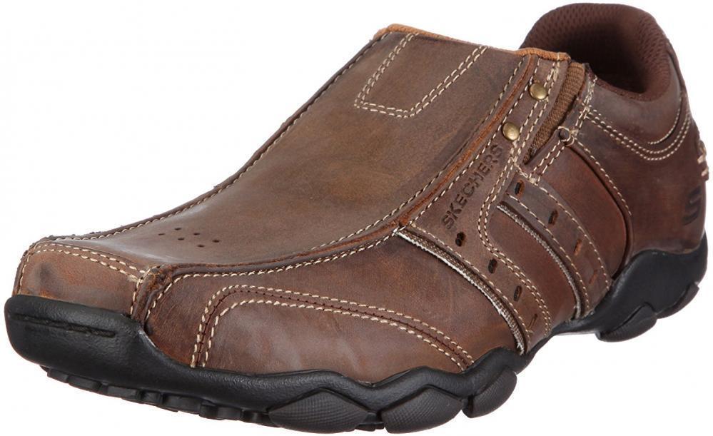 Skechers Men's Relaxed Fit-Delson-Brewton Sneaker Comfort Walking Casual Slip-On