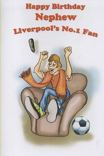 LIVERPOOL CARTE D/'ANNIVERSAIRE-Joyeux Anniversaire neveu Liverpool/'s No.1 Ventilateur