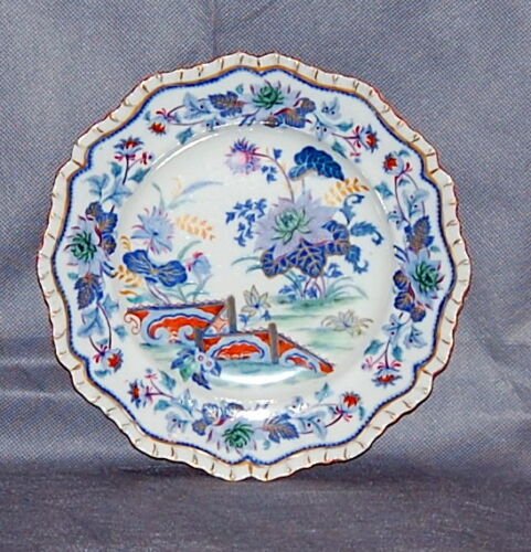 "Hicks /& Meigh English Staffordshire Pottery 9/"" Salad Dessert Plate Pattern 21 24"